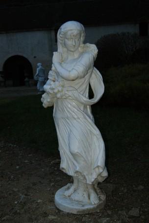 Statue en fonte 4 saisons Blanc