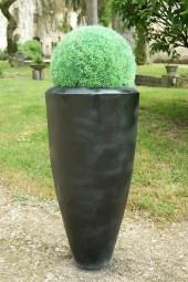 Vase en fonte Noir mat