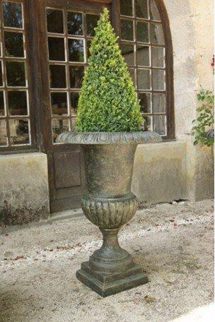 Vase Médicis en fonte Bronze-Vert