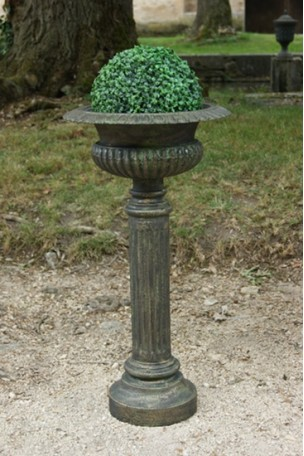 Vasque Médicis sur colonne Bronze-Vert
