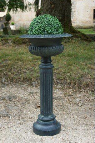 Vasque Médicis sur colonne Bronze-Bleu
