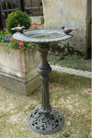 Vasque fontaine en fonte Bronze-Vert