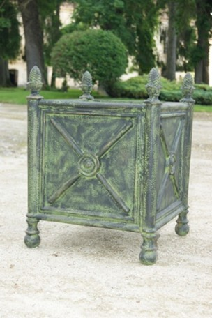 Bac à oranger en fonte Bronze-Vert