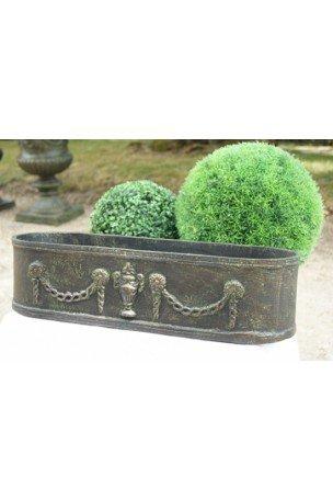 Jardinière en fonte Bronze-Vert